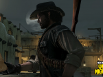 Marston examines a missing persons bulletin